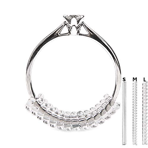 Vancool (18pcs Ring Size Adjuster(1.5mm/2mm/3mm),Perfect for Loose Rings,with Ring Polishing Cloth
