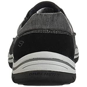 Skechers mens Expected - Avillo golf shoes, Black Canvas/Suede, 13 US