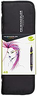 Prismacolor 1776354 Premier Double-Ended Art Markers, Fine and Brush Tip, 48-Count with..