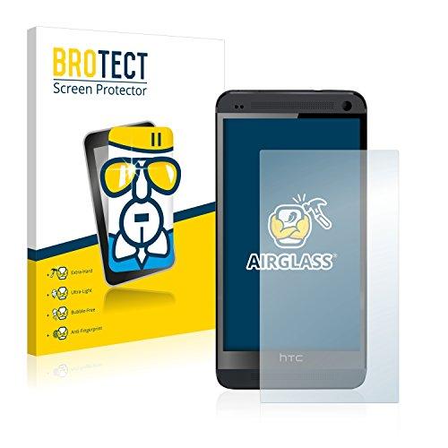 BROTECT Protector Pantalla Cristal Compatible con HTC One M7 Protector Pantalla Vidrio Dureza 9H AirGlass