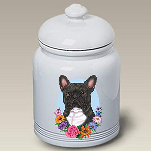 French Bulldog Black/White - Best of Breed Ceramic Doggie Treat Jar