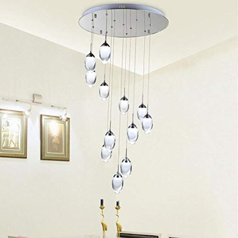 Moderne LED-Pendelleuchten Mode Pendelleuchten Innenhauptdekoration Beleuchtung Treppen Licht warmes weies kühles Wei Pendelleuchte, Einzel warmes Wei, runde Basis