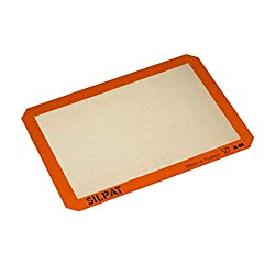 Silpat AE420295-07 Premium Non-Stick Silicone Baking Mat, Half Sheet Size, 11-5/8? x 16-1/2?