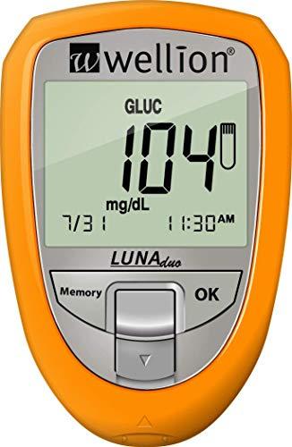 Wellion LUNA Duo Blutzuckermessgerät Set gelb mg/dl