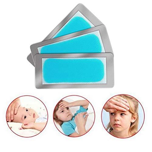 Nerplro Baby Fieber Kühlaufkleber, Kinder effektive Kühlpads Antipyretische Pflastersichere Aufkleber, 3 Stück/Packung