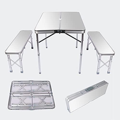 Wiltec Aluminium Koffertisch mit Zwei...