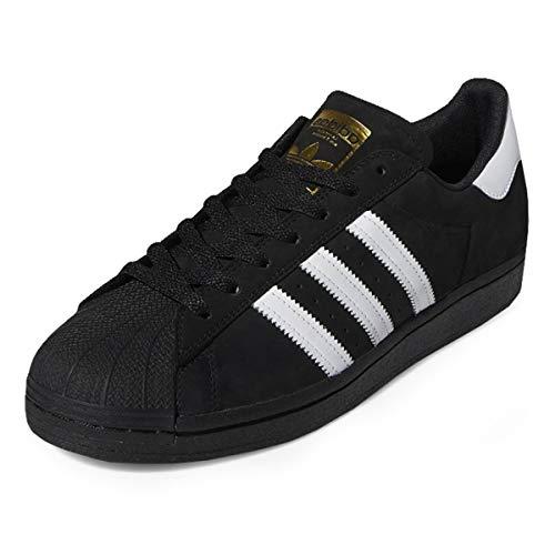 adidas Superstar ADV, Sneaker Uomo, Black/White/Gold Metallic, 47 1/3 EU