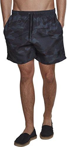 Urban Classics Camo Swimshorts Camiseta de natación, Multicolor (Darkcamo 00707), M para Hombre