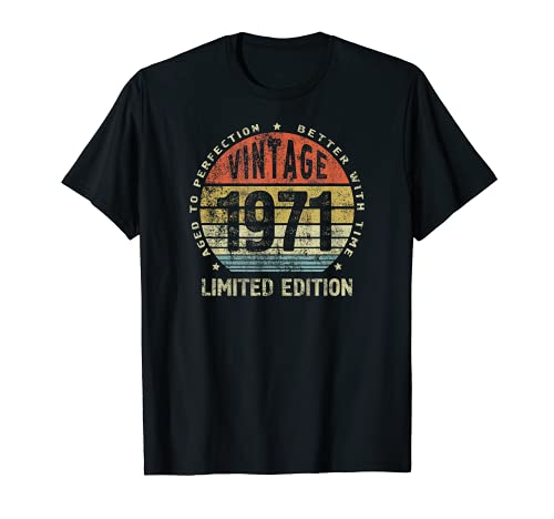 50th birthday gift ideas for woman or man 1971 T-Shirt