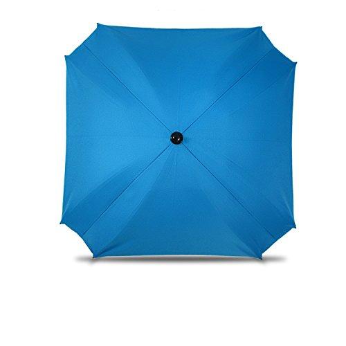 Sombrilla para cochecito de bebé, con brazo de fijación flexible, protección UV, diámetro 68 cm, color azul