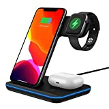 UNIGEN UNIDOCK 200 3-in-1 [Qi Certified] [Upgraded 2021] 15W Wireless Charging Station for iWatch...