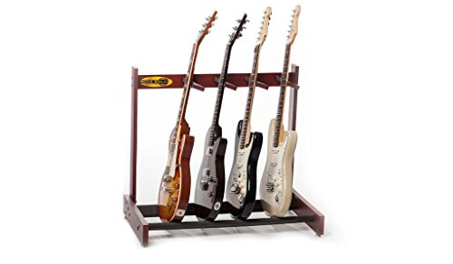 Rock Solid Guitar Stands Classic Solid Mahogany 4 Guitar Stand