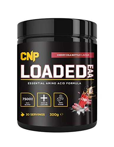 CNP Loaded EAA, Essential Amino Acid, Strawberry Laces, 300g, 30 Serving, EAA BCAA, Recovery & Repair of Muscle (Cherry Cola Bottles)