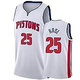 WHOME Camiseta de Baloncesto Derrick Rose # 25 Pistons, Chaqueta de Entrenamiento, Camiseta de Baloncesto, Uniforme del Equipo