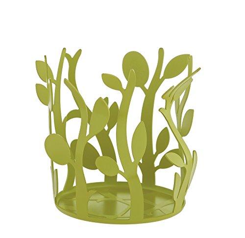 Alessi Flaschenhalter Öl, Edelstahl, grün, 26.7 x 13.5 x 25.5 cm