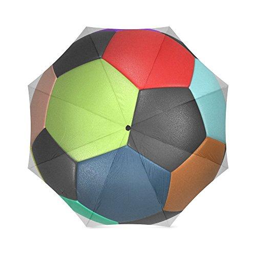 Moeders, vaders, broers, cadeaus, stijlvol, kleurrijk voetbalbal voetbal, 100% textiel en aluminium, hoogwaardige paraplu
