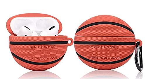 Airpods 1 und 2 Hülle Hülle, HengJun Airpods Schutzhülle Niedliche Cartoon Silikon Airpod Hülle Schutzhülle Gehäuse Kompatibel für Apple Airpods 1 und 2 - Basketball