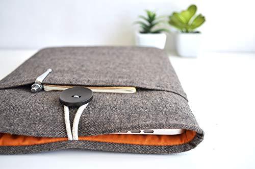 Brown Linen Kindle Sleeve, Amazon Fire Case, Kindle Paperwhite, Kindle Voyage, Custom Size