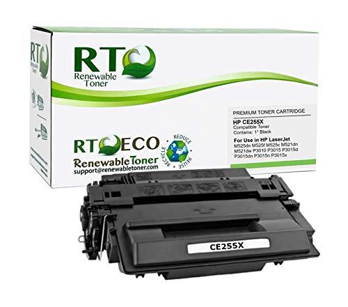 Renewable Toner Compatible High Yield Toner Cartridge Replacement for HP 55X CE255X Laserjet Enterprise P3010 P3015 P3016 M521