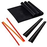 Laminas Oven Accessories Set of 8-3 Heat Resistant Silicone Rack Protectors Guards - 2 Stove Counter Gap Cover...