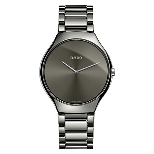 Rado True Thinline Damen-Armbanduhr 39mm Armband Keramik Batterie R27955122