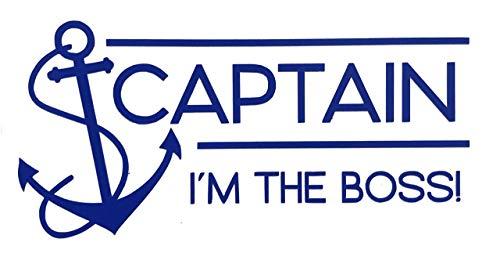 Custom Vinyl Captain Anchor Decal, Nautical Love Bumper Sticker, for Tumblers, Laptops, Car Windows
