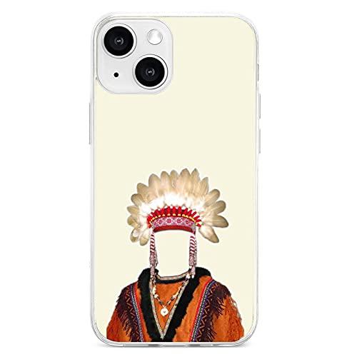 Personalizar TPU Telfonos Mviles Fundas y Accesorios Impreso Arte Indgena Decoracin de Disfraz para Iphone13 Mini Pro Max para Regalo de Cumpleaos para Nios Nias Amigos Familia Husb