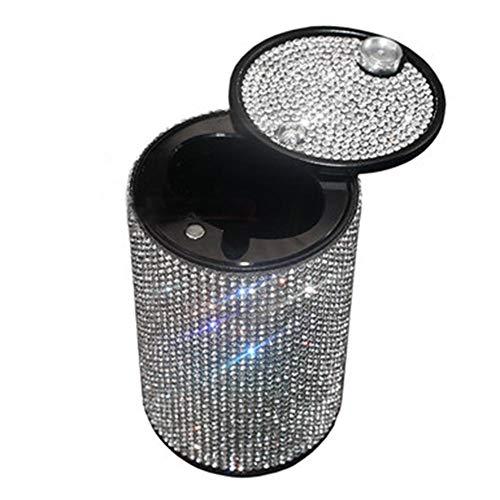 egfsha - Cenicero de escritorio para coche con diamantes de imitación