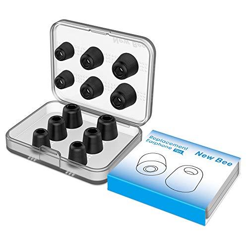 New Bee Ersatz-Ohrstöpsel, Ohrstöpsel, 12 Stück, mit Hülle, Memory-Schaum, 5-7 mm, für Jaybird, Beats, Sony, Nexus, LG