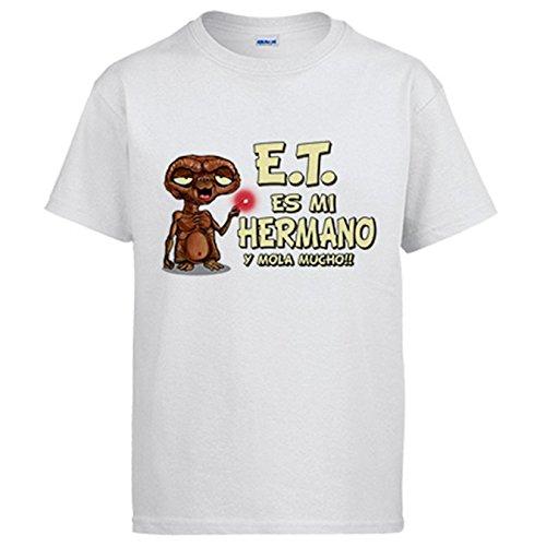 Diver Camisetas Camiseta Parodia E.T. Este es mi Hermano y Mola Mucho ET El Extraterrestre Friki