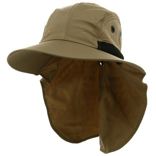 TopHeadwear Chapeau avec revers Kaki