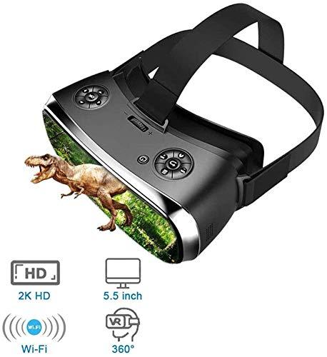 WUAZ all-in-One Realtà Virtuale VR Occhiali Cuffia, Occhiali 3D Virtual PC Occhiali Cuffia all in One VR per PS 4 Xbox 360 / Un 2 K HDMI Nibiru Android 5.1 dello Schermo