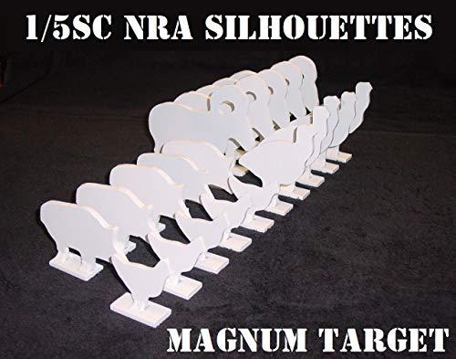 1/5 Scale NRA/IHMSA Metallic Silhouette Targets - 20pc Small Bore Rifle Knock-Overs