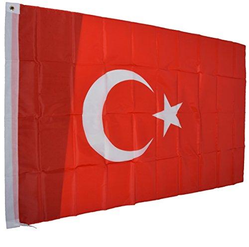 Türkei Fahne türkische National Flagge 150 x 90 cm mit Schlaufe