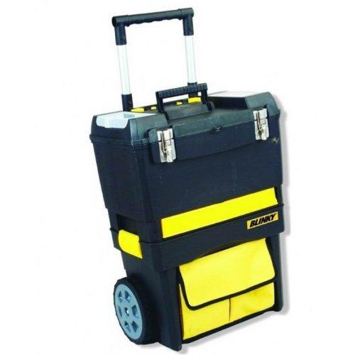 Blinky 40542-10 Toolbox gereedschapstrolley/gereedschapskist op wieltjes, 47 x 27 x 63 cm