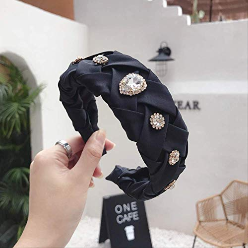 Vintage geflochtene Strass Perle Haarbänder für Frauen Turban Juwel Stirnband Mädchen Clips Haarschmuck Haar Kopfbedeckung