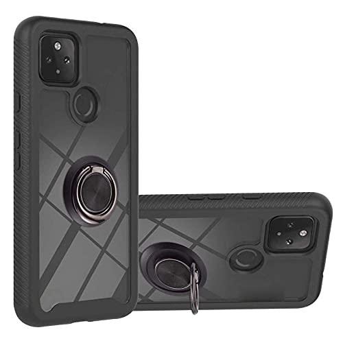 スマホケースカバー・Google Pixel 5a用 (5G) ケース リング付き 耐衝撃 シンプル 背面クリア 保護ケース 衝撃吸収 カバー グーグル ピクセル5a (5G) 頑丈 ハードケース スマホケース おしゃれ 人気 スマホカバー スマートフォン