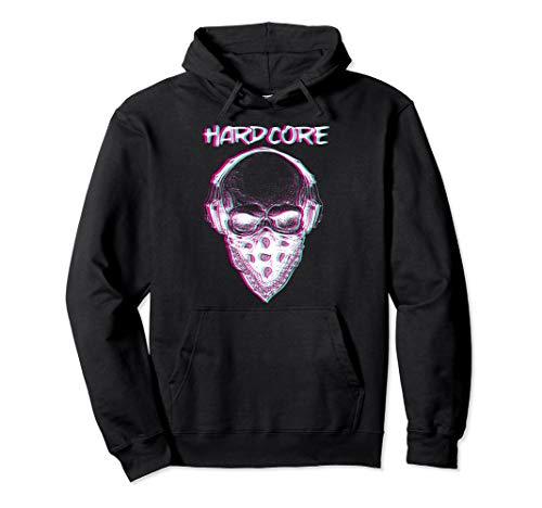 Skull Hardcore Techno Trippy EDM | Festival Rave Hardtekk Pullover Hoodie