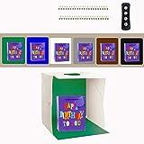 Caja de Luz 40x40cm,Zoutt Caja de Fotografía Portátil Estudio Fotográfico con 3 Colores...