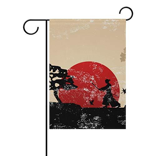 LIANCHENYI Retro Japanische Kampfsportfahne Doppelseitige Familienflagge Polyester Outdoor Flagge Home Party Deko Garten Flagge 30,5 x 45,7 cm