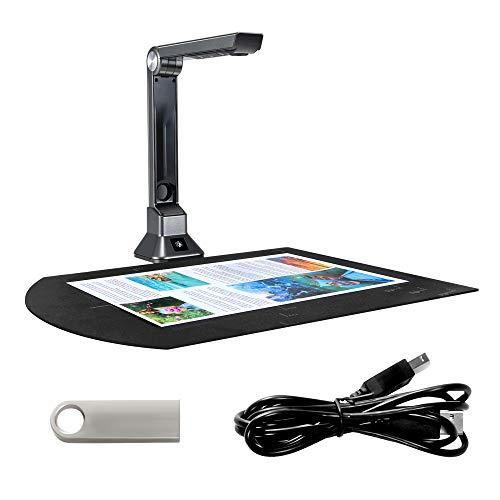 S SMAUTOP Scanner per documenti, scanner portatile 10 milioni di pixel Cattura formato A4 scanner per libri professionale con registrazione video in proiezione, per la formazione in ufficio ecc