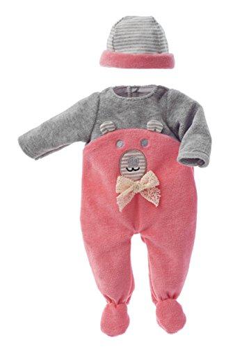 Käthe Kruse 0136804 Strampler mit Bärenapplikation pink 30-33 cm