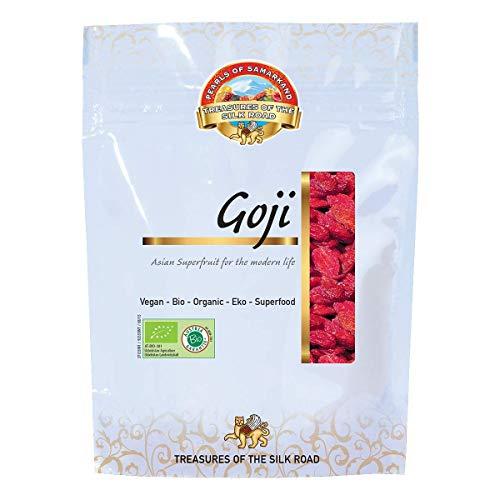 Baies de Goji Bio 700g gr séchées au soleil, crues, d'Ouzbékistan, sans sucre ajouté et non sulfurés 7x100g