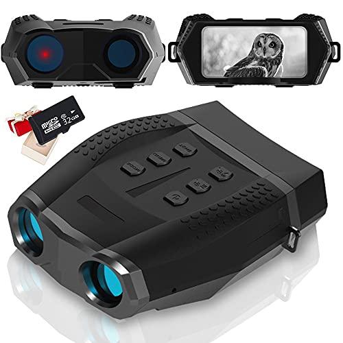 Braveking1 Binocolo Visione Notturna, Visore Notturno Digitale Infrarossi Militare Professionale, Binocolo Notturno con Registrazione di Foto e Video HD di Portata 500m per la Caccia con 32G Scheda