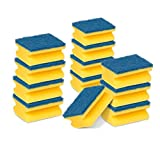 Scotch-Brite Estropajo para fregar sin rayar delicado, 12 esponjas por paquete, Óptimo para cristal y utensilios de cocina antiadherentes Salvauñas Comfort Ahorro, Azul (no Raya)