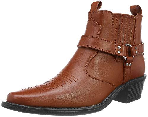 US Brass Herren Eastwood Cowboy-Stiefel/Cowboy-Stiefelette/Westernstiefel (45 EU) (Schwarz)