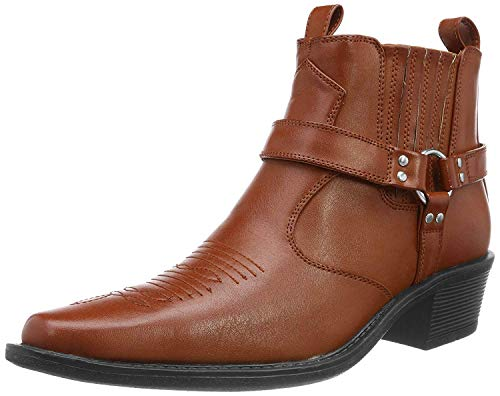 US Brass - Botas de cowboy al tobillo modelo Eastwood