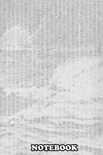 Notebook: Soft Graphite Drawing Of Waves Off The Coast Of Oregon , Journal for Writing, College Ruled Size 6' x 9', 110 Pages
