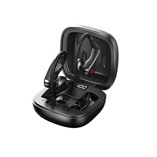 LORIEL Auriculares Inalámbricos - Auriculares Bluetooth 5.0, Diseño Separado Binaural, con Pantalla Digital Inteligente LED, Micrófono De Cancelación De Ruido, con Caja De Carga