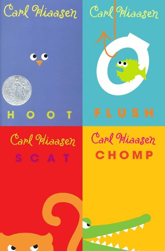 Carl Hiaasen 4-Book Collection: Hoot; Flush; Scat; Chomp